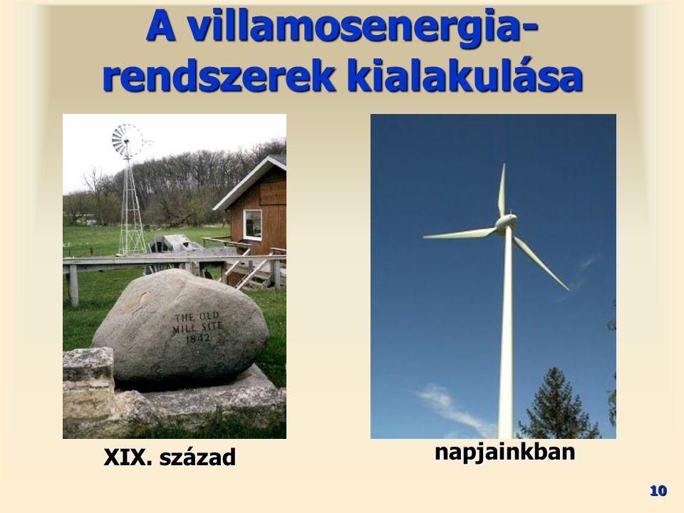 10 XIX. század A villamosenergia- rendszerek kialakulása napjainkban