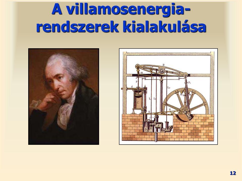 12 A villamosenergia- rendszerek kialakulása