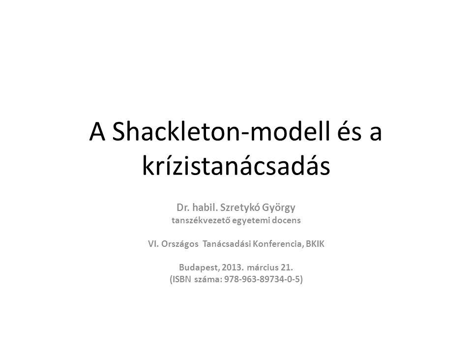 A Shackleton-modell és a krízistanácsadás Dr. habil.