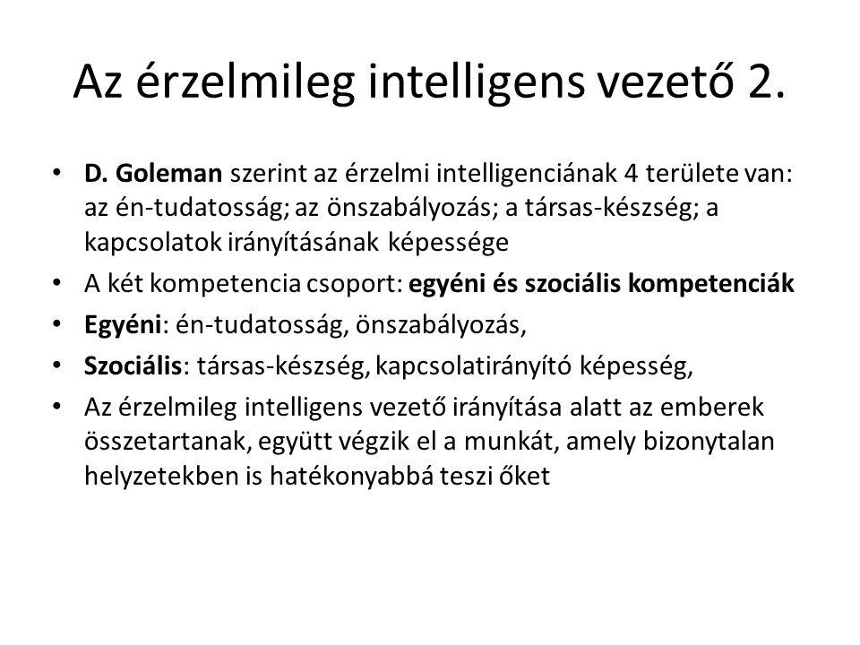 Az érzelmileg intelligens vezető 2. D.