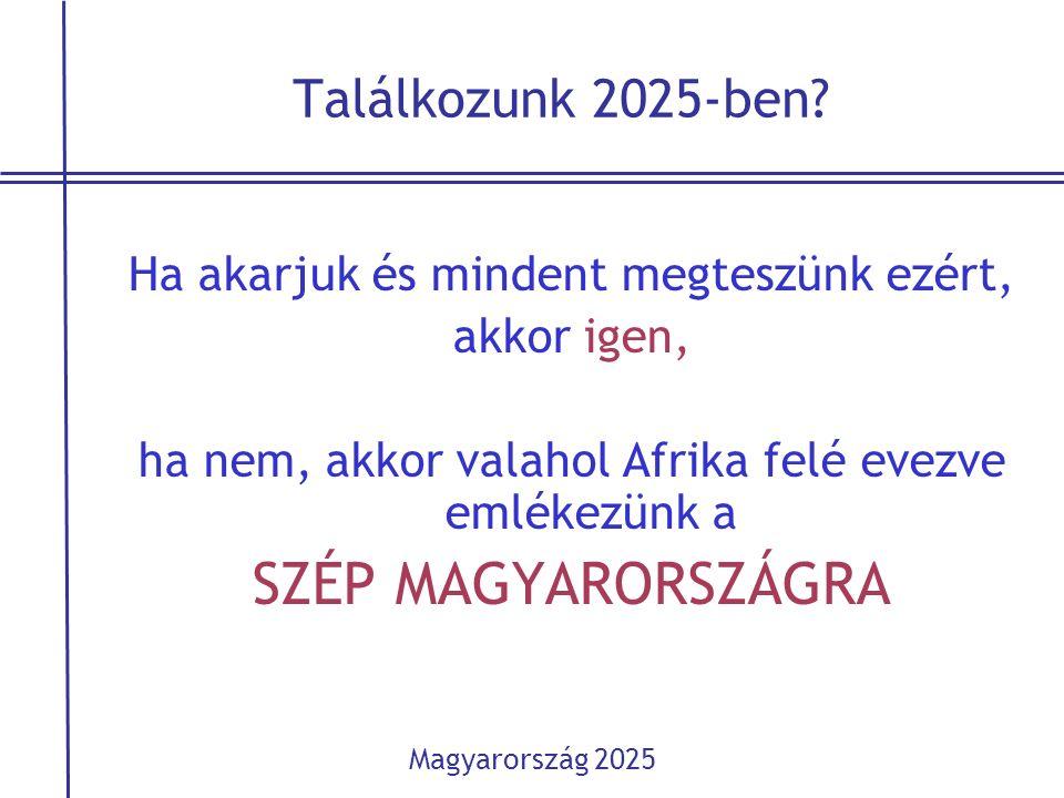 Találkozunk 2025-ben? Ha akarjuk és mindent megteszünk ezért, akkor igen, ha nem, akkor valahol Afrika felé evezve emlékezünk a SZÉP MAGYARORSZÁGRA Ma