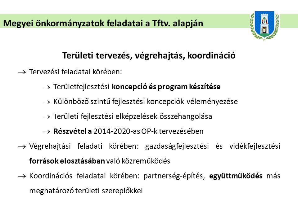 Megyei önkormányzatok feladatai a Tftv.