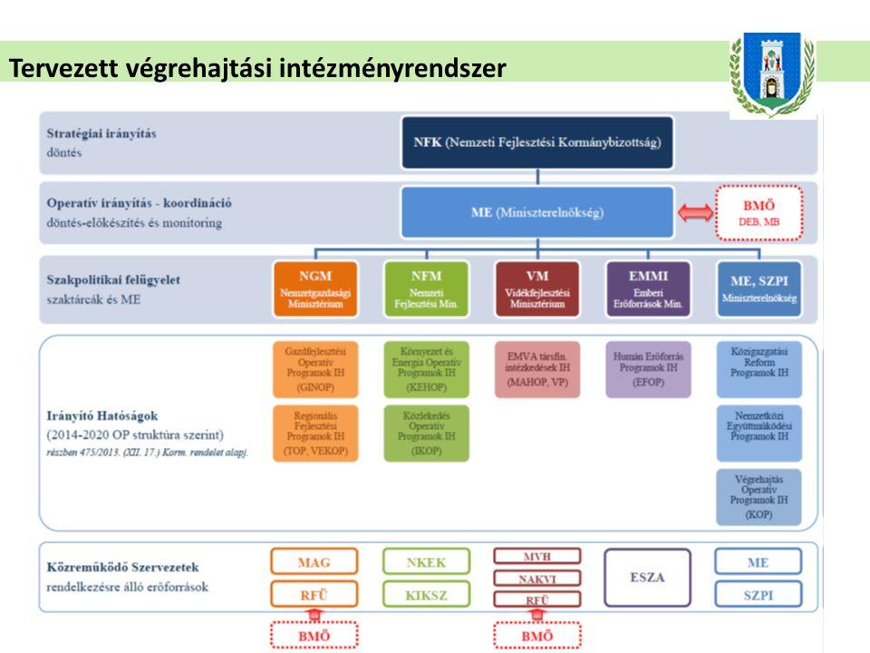 Tervezett végrehajtási intézményrendszer
