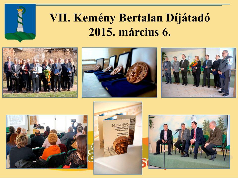 VII. Kemény Bertalan Díjátadó 2015. március 6.