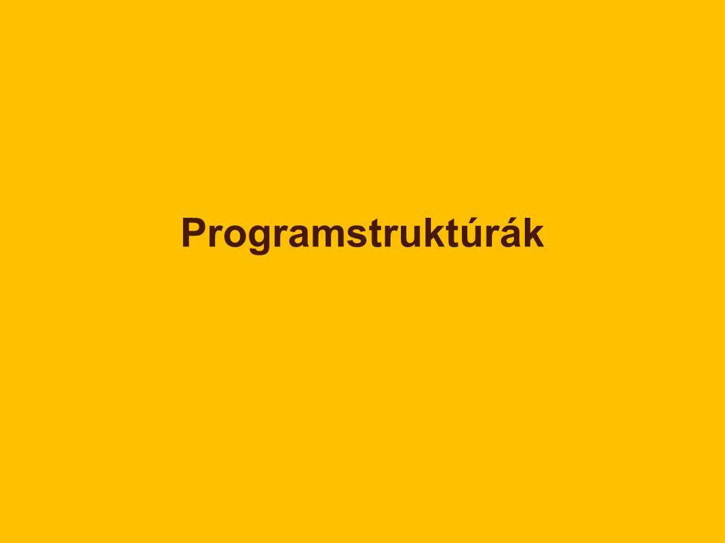 Programstruktúrák