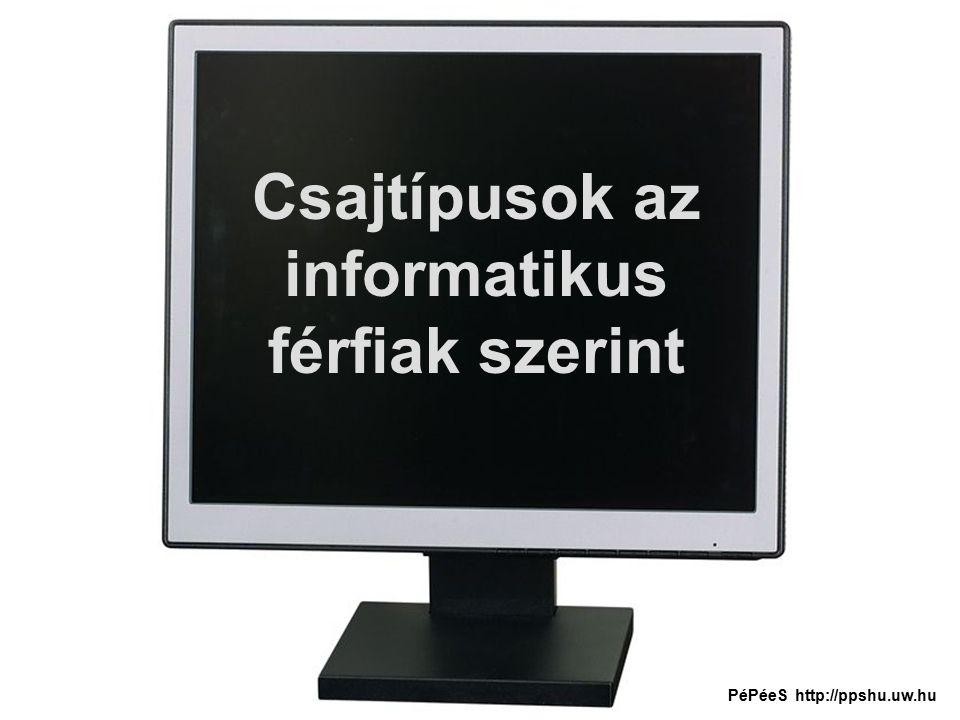 Csajtípusok az informatikus férfiak szerint PéPéeS http://ppshu.uw.hu