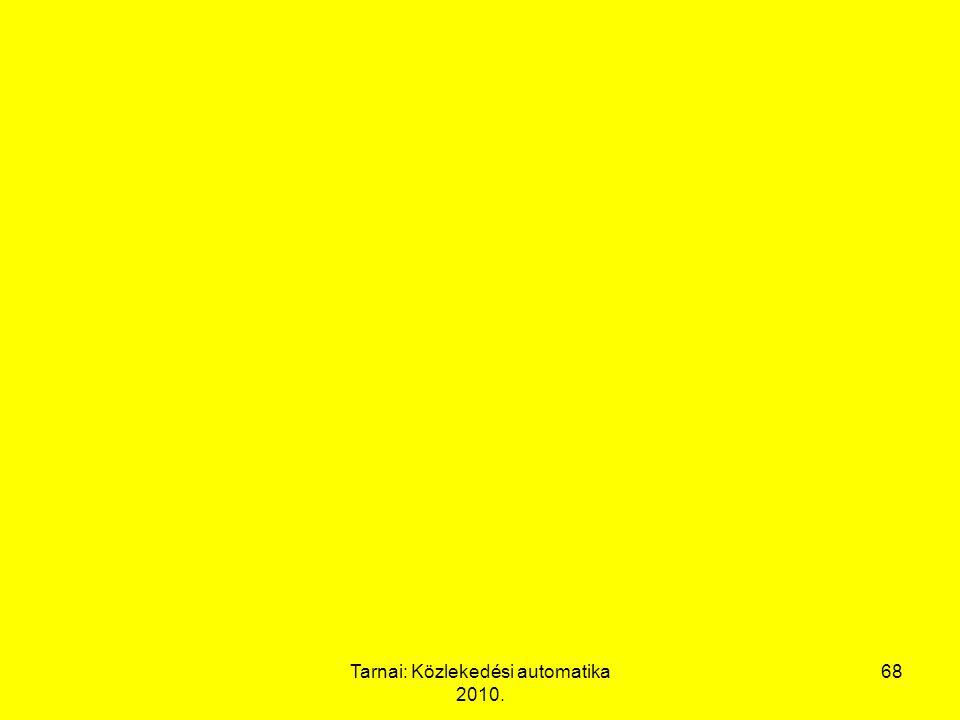 Tarnai: Közlekedési automatika 2010. 68