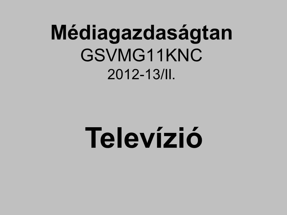 Médiagazdaságtan GSVMG11KNC 2012-13/II. Televízió