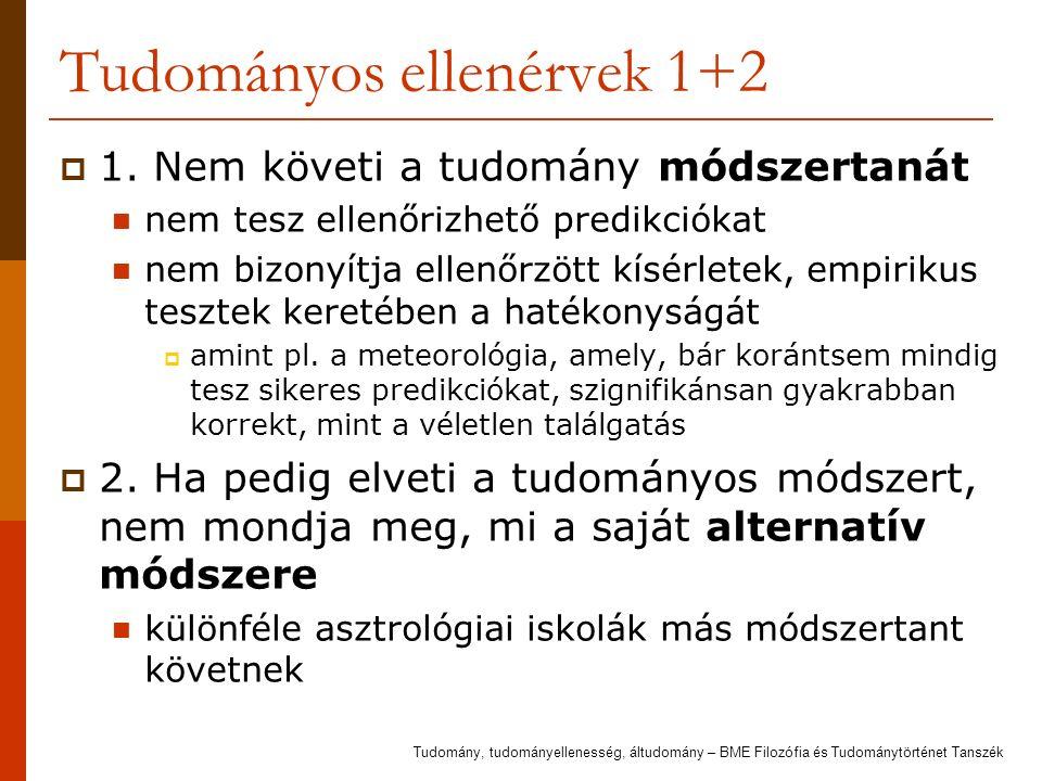 Tudományos ellenérvek 1+2  1.