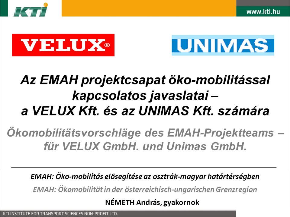 Ökomobilitätsvorschläge des EMAH-Projektteams – für VELUX GmbH.