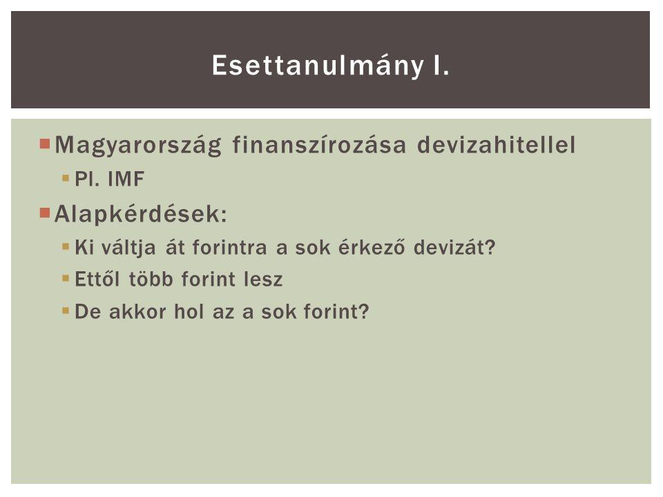  Magyarország finanszírozása devizahitellel  Pl.