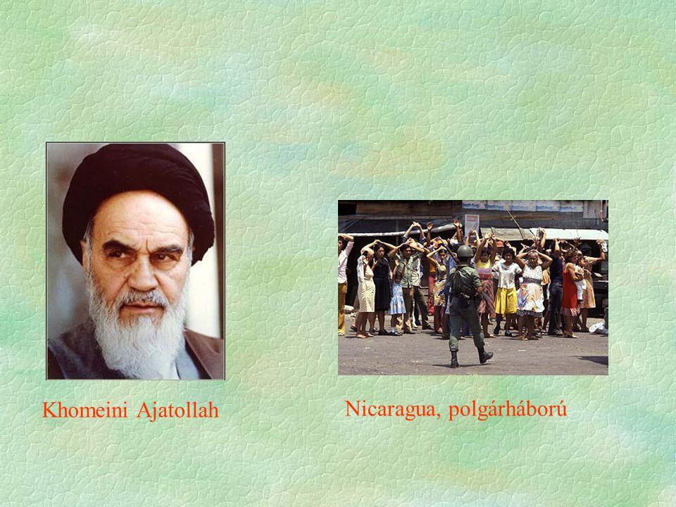 Nicaragua, polgárháború Khomeini Ajatollah