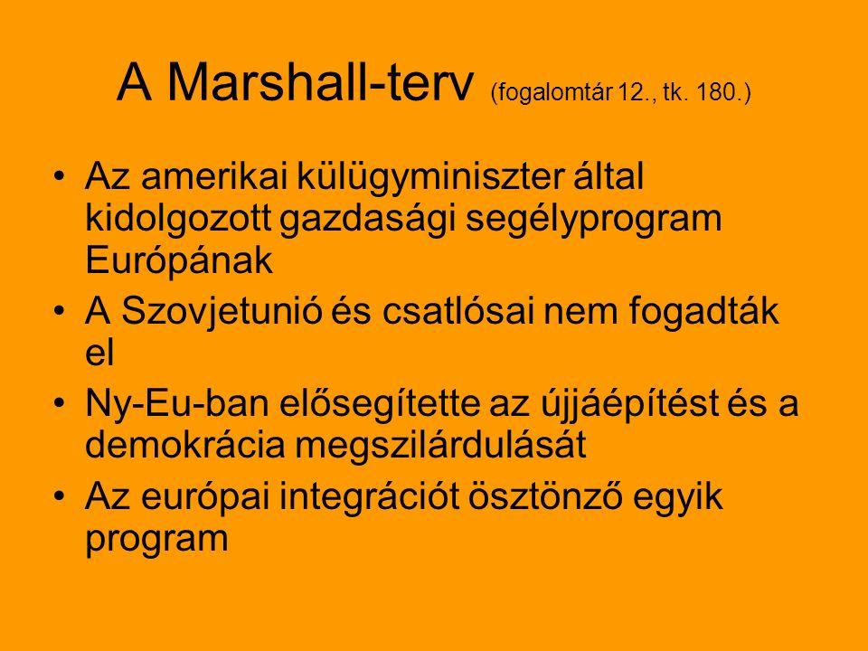 A Marshall-terv (fogalomtár 12., tk.