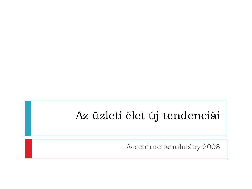 Az üzleti élet új tendenciái Accenture tanulmány 2008