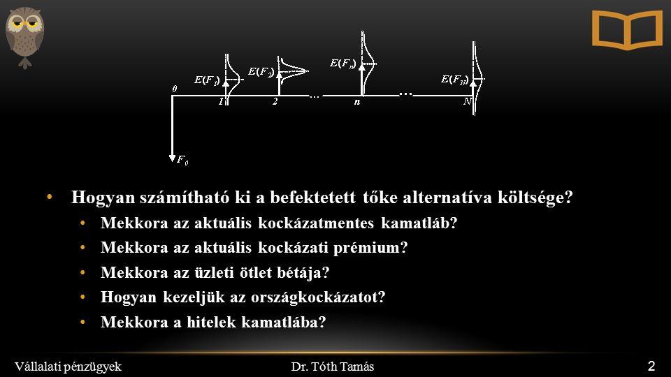 Dr.Tóth Tamás Vállalati pénzügyek 13 VI.2.
