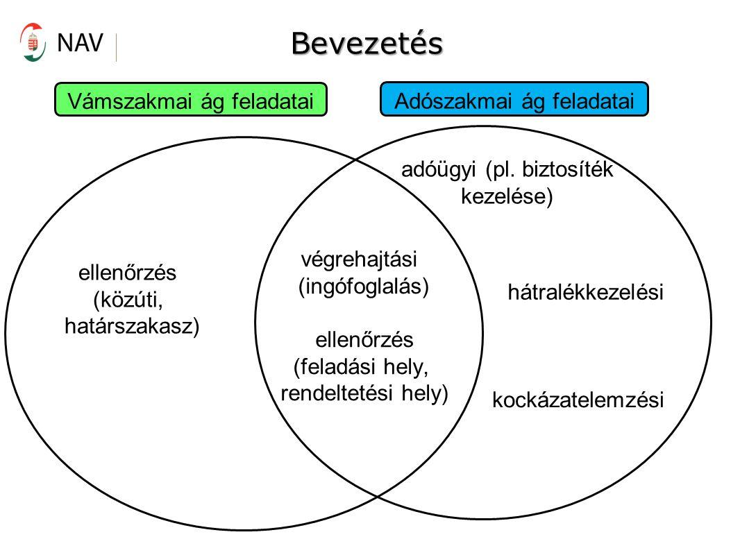 Bevezetés Vámszakmai ág feladatai Adószakmai ág feladatai adóügyi (pl.