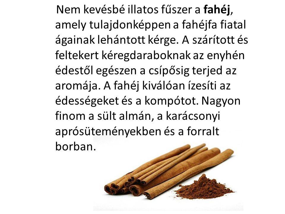 Nem kevésbé illatos fűszer a fahéj, amely tulajdonképpen a fahéjfa fiatal ágainak lehántott kérge.