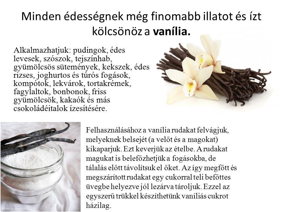 Minden édességnek még finomabb illatot és ízt kölcsönöz a vanília.