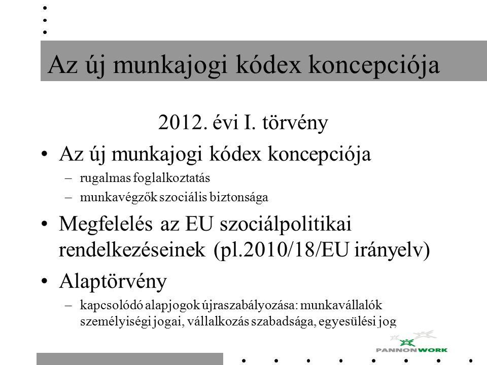 Az új munkajogi kódex koncepciója 2012. évi I.