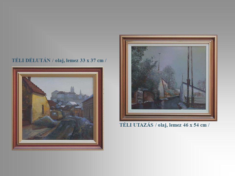 ERDŐ MÉLYÉN / olaj, lemez 20 x 30 cm / ŐSZI UTAZÁS / olaj, vászon 30 x 40 cm /