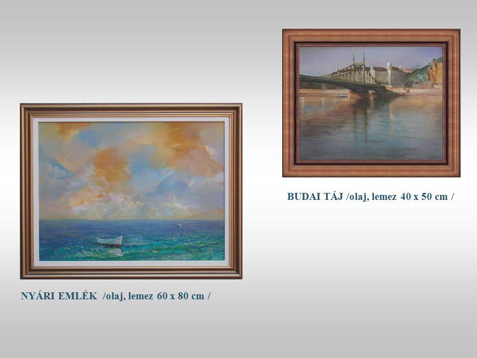 EGZOTIKUS CSENDÉLET / olaj, vászon 50 x 70 cm /