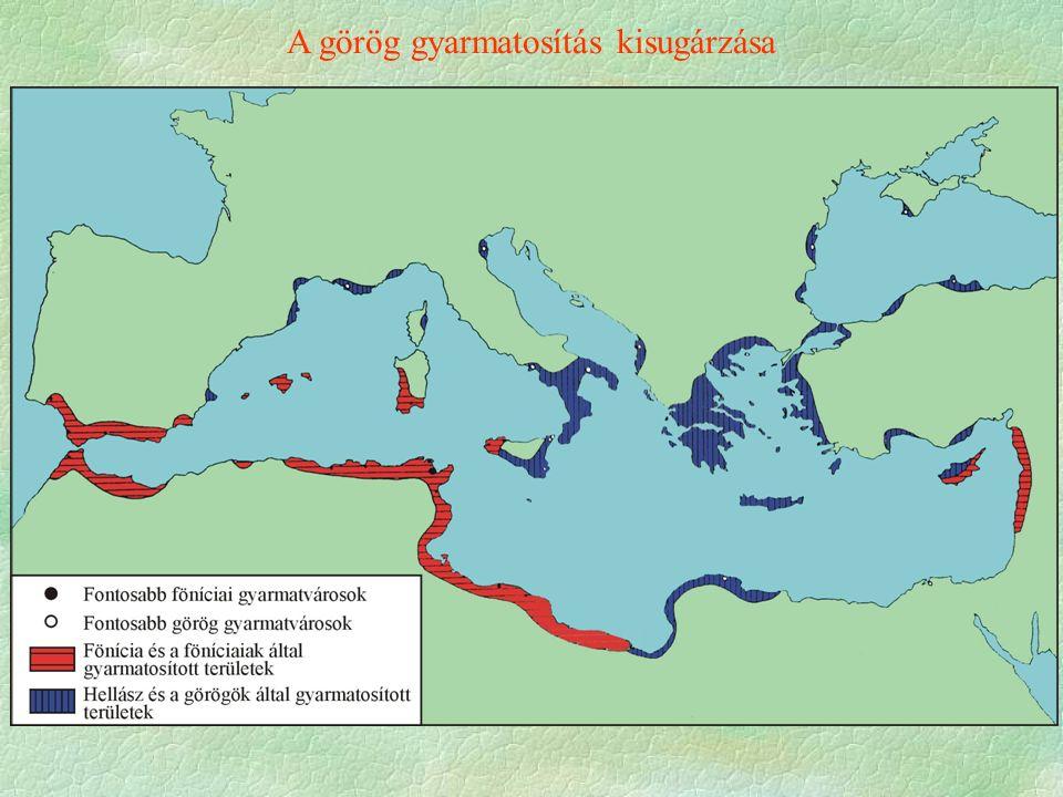 A görög gyarmatosítás kisugárzása