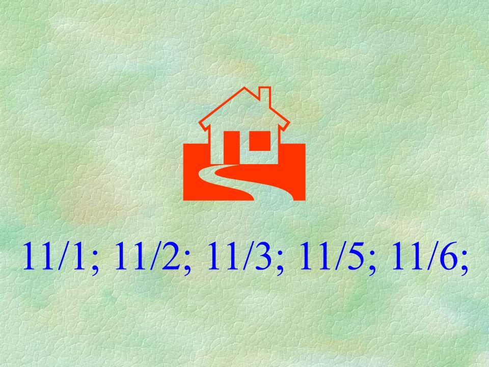  11/1; 11/2; 11/3; 11/5; 11/6;