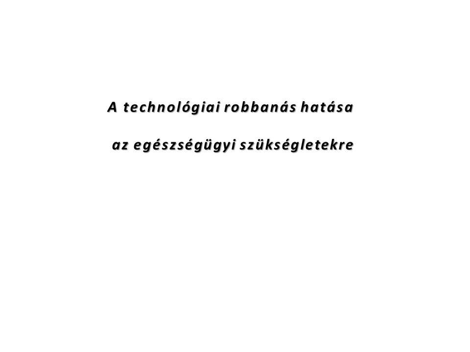 A technológiai robbanás hatása az egészségügyi szükségletekre az egészségügyi szükségletekre