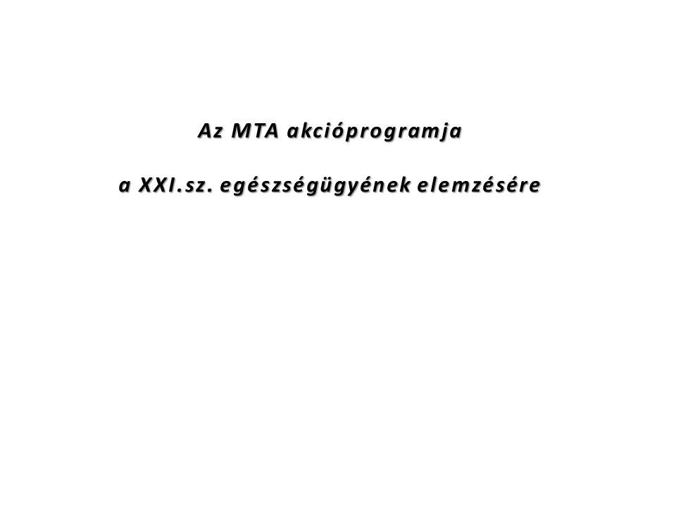 Az MTA akcióprogramja a XXI.sz. egészségügyének elemzésére