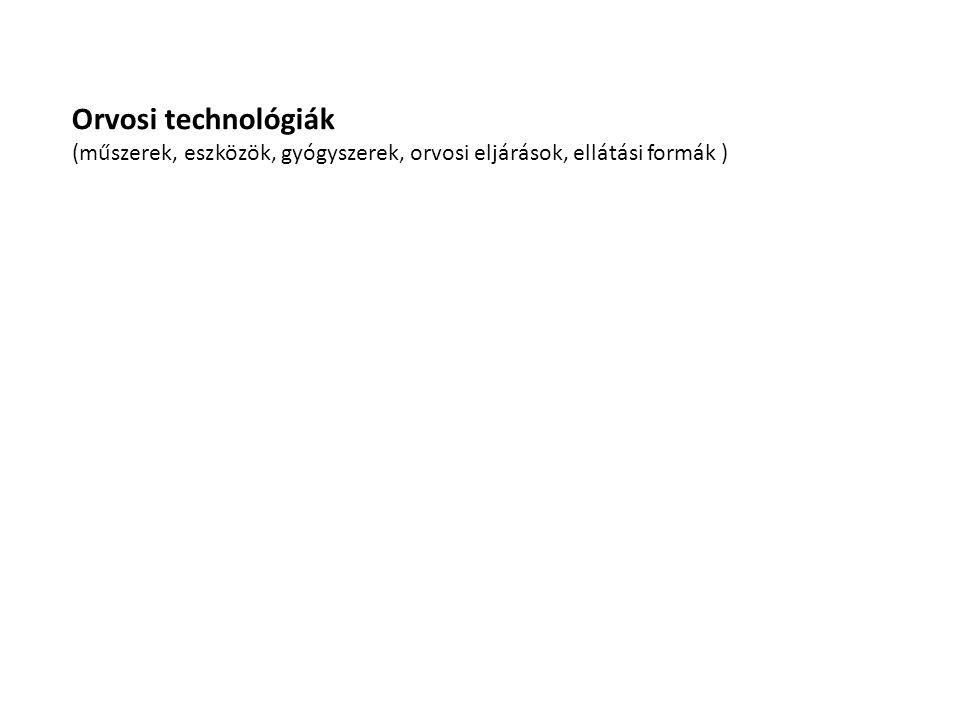 Orvosi technológiák (műszerek, eszközök, gyógyszerek, orvosi eljárások, ellátási formák )