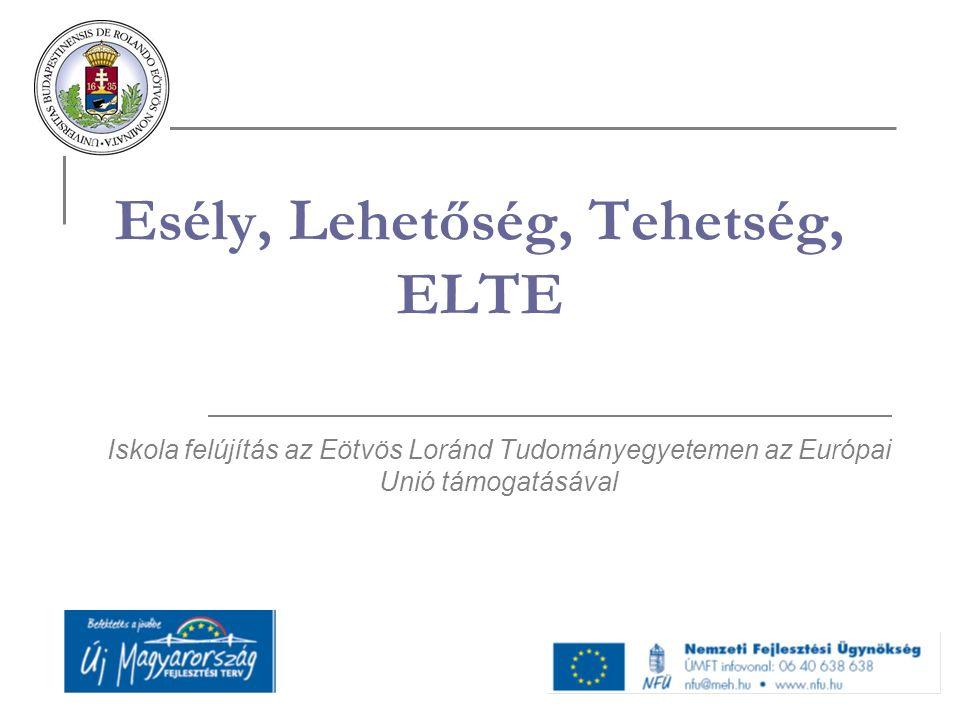 Esély, Lehetőség, Tehetség, ELTE Iskola felújítás az Eötvös Loránd Tudományegyetemen az Európai Unió támogatásával
