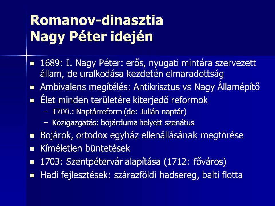 Romanov-dinasztia Nagy Péter idején 1689: I.