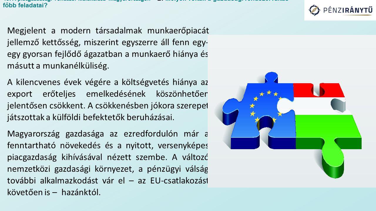 40. A piacgazdasági rendszer kialakulása Magyarországon – B.