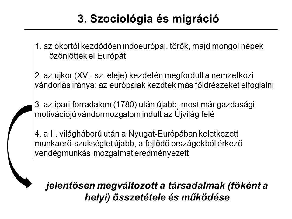 3. Szociológia és migráció 1.