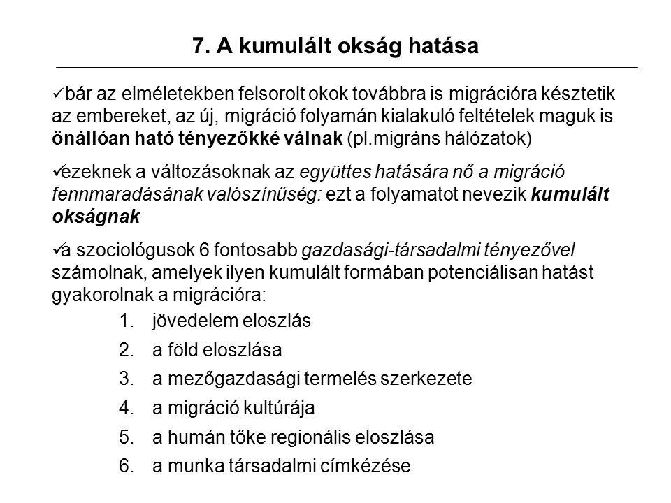 8.Globális migrációs modellek 1.Klasszikus modell (pl.