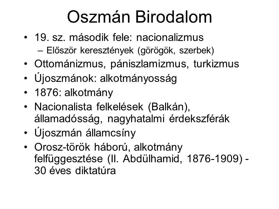 Oszmán Birodalom 19. sz.