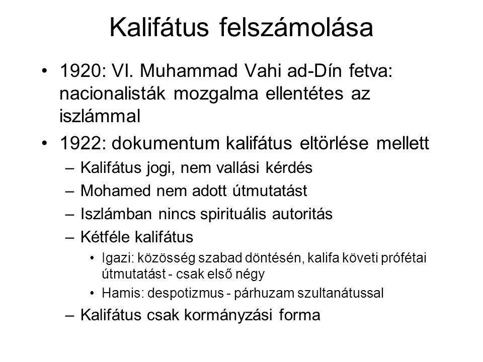 Kalifátus felszámolása 1920: VI.