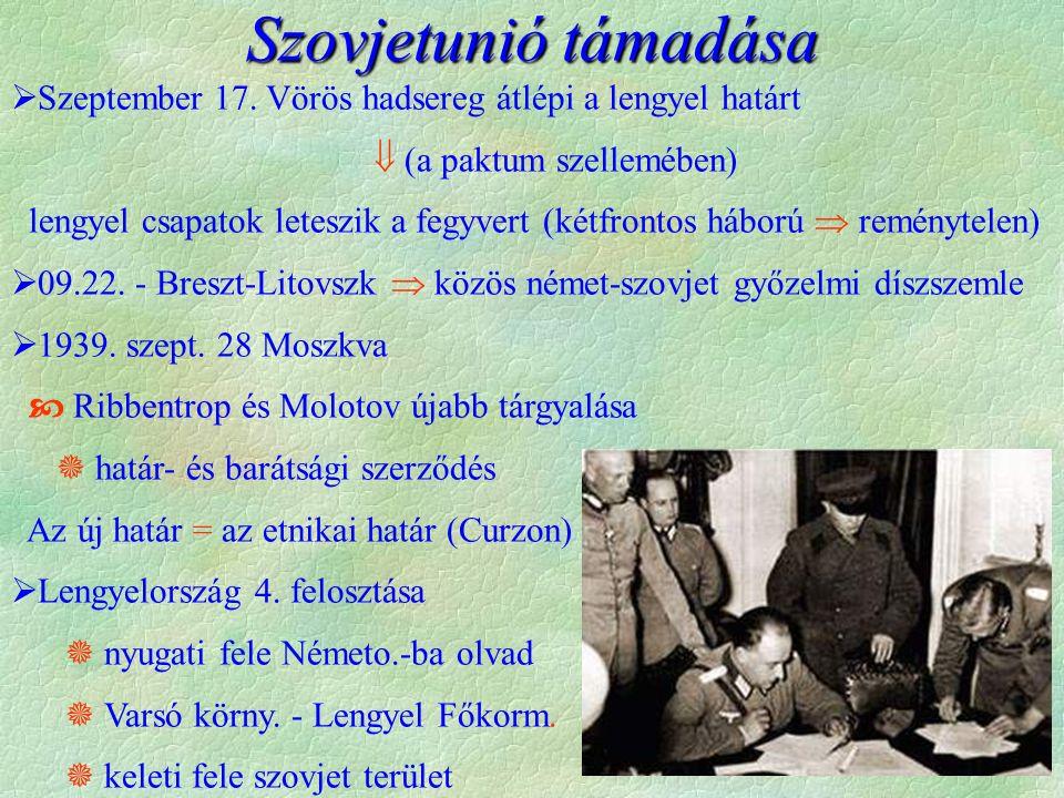 Szovjetunió támadása  Szeptember 17.