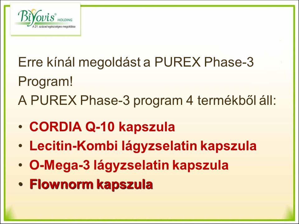 Erre kínál megoldást a PUREX Phase-3 Program.