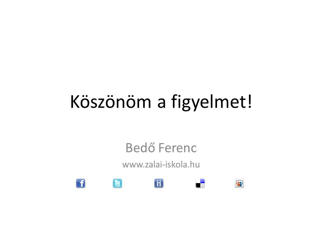 Köszönöm a figyelmet! Bedő Ferenc www.zalai-iskola.hu