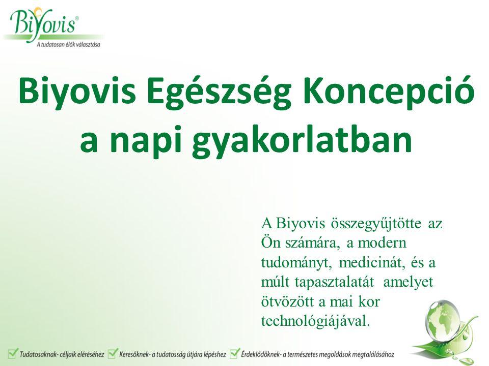 Biyovis Egészség Koncepció a napi gyakorlatban A Biyovis összegyűjtötte az Ön számára, a modern tudományt, medicinát, és a múlt tapasztalatát amelyet ötvözött a mai kor technológiájával.