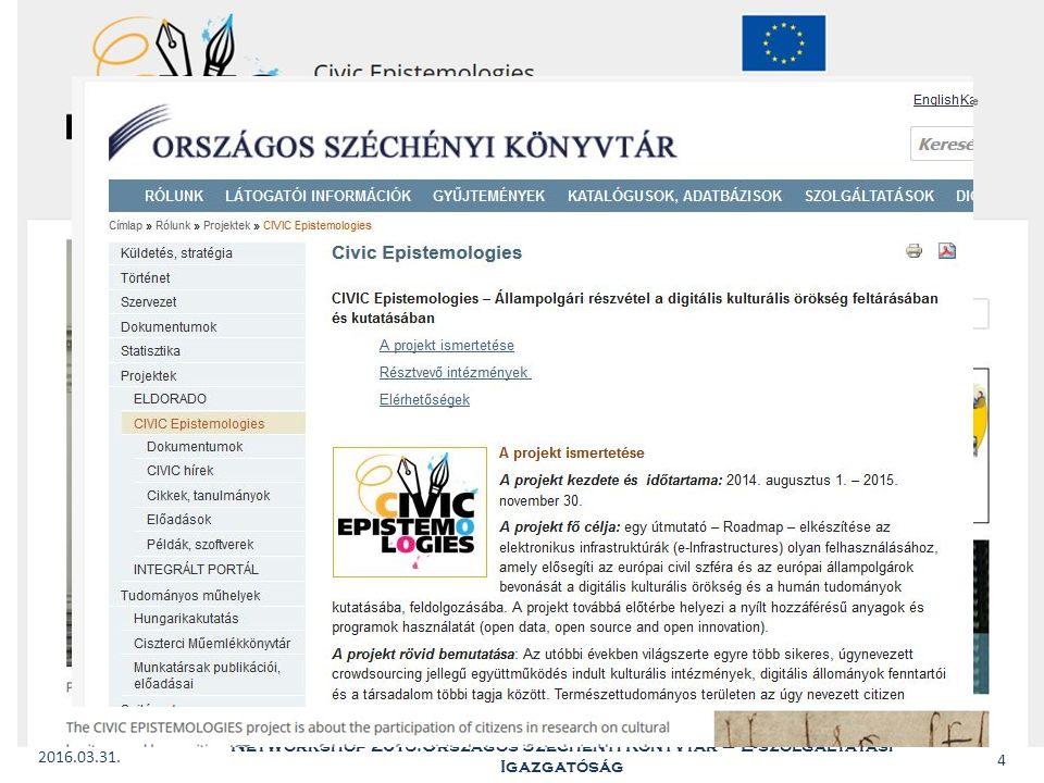 BIBLIOTHECA NATIONALIS HUNGARIAE 2016.03.31.