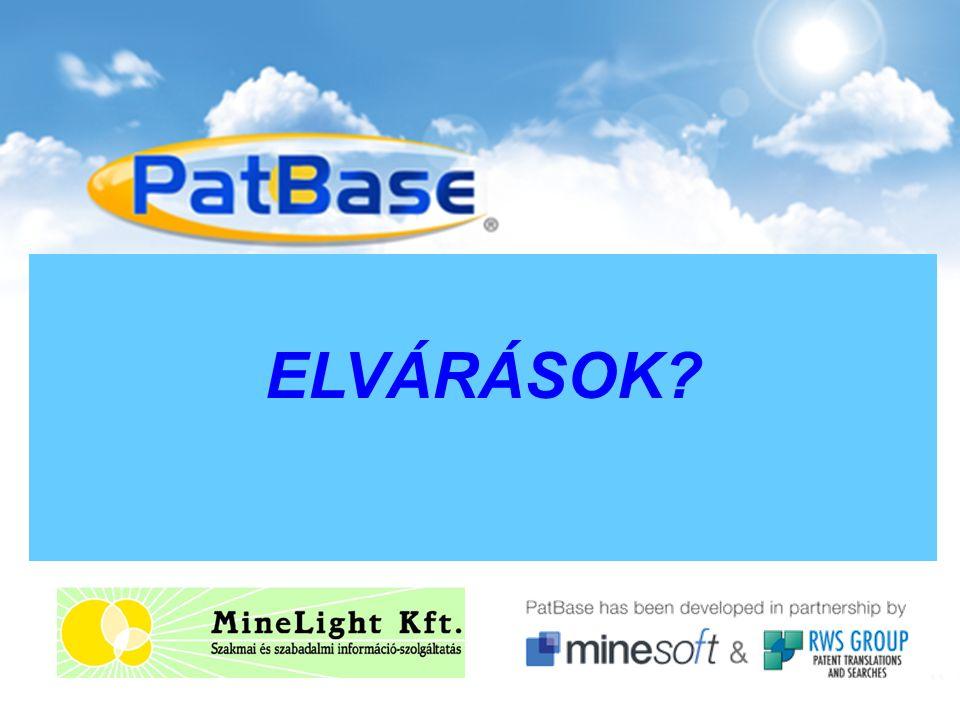 25. NETWORKSHOP KONFERENCIA 2016. március 30-április 1. PatBase, a szabadalmi adatbázis ELVÁRÁSOK?