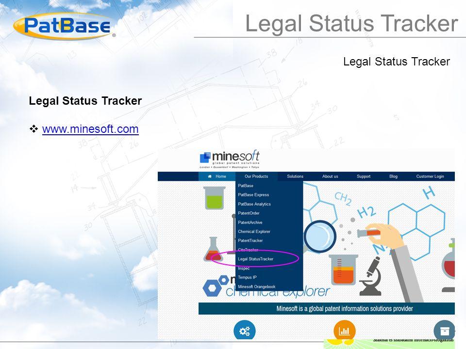 Legal Status Tracker  www.minesoft.comwww.minesoft.com Legal Status Tracker