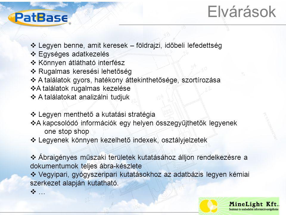 A találatok statisztikai elemzése  PatBase Analytics