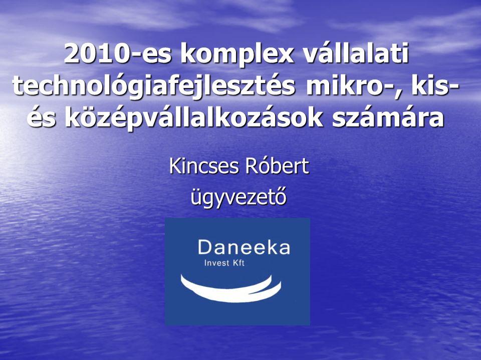 2010-es komplex vállalati technológiafejlesztés mikro-, kis- és középvállalkozások számára Kincses Róbert ügyvezető