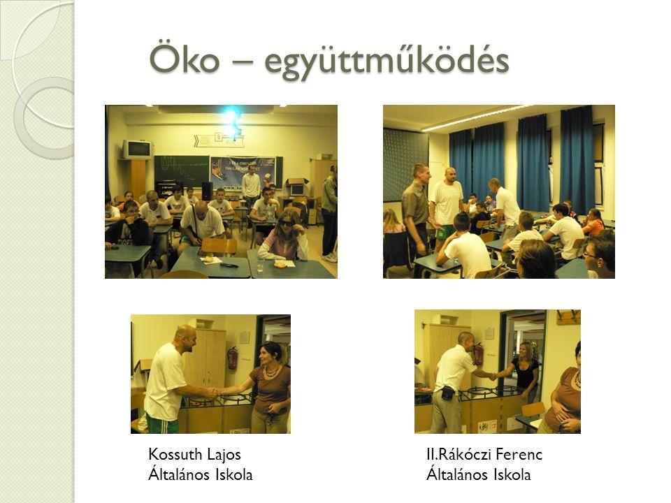 Öko – együttműködés Kossuth Lajos Általános Iskola II.Rákóczi Ferenc Általános Iskola