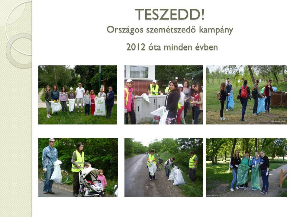 TESZEDD! Országos szemétszedő kampány 2012 óta minden évben