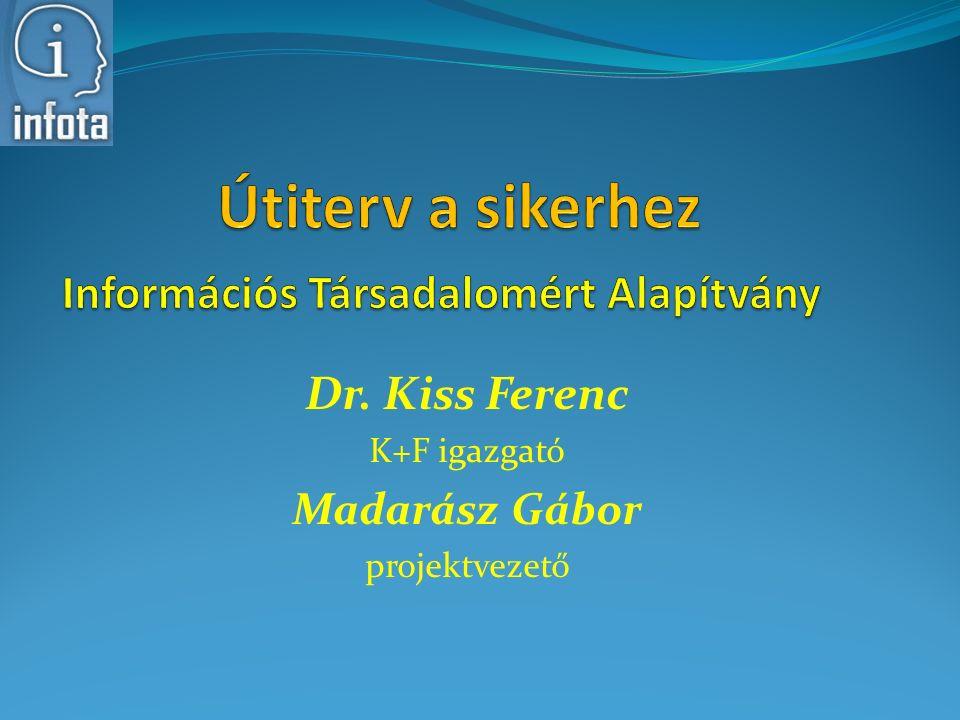 Dr. Kiss Ferenc K+F igazgató Madarász Gábor projektvezető