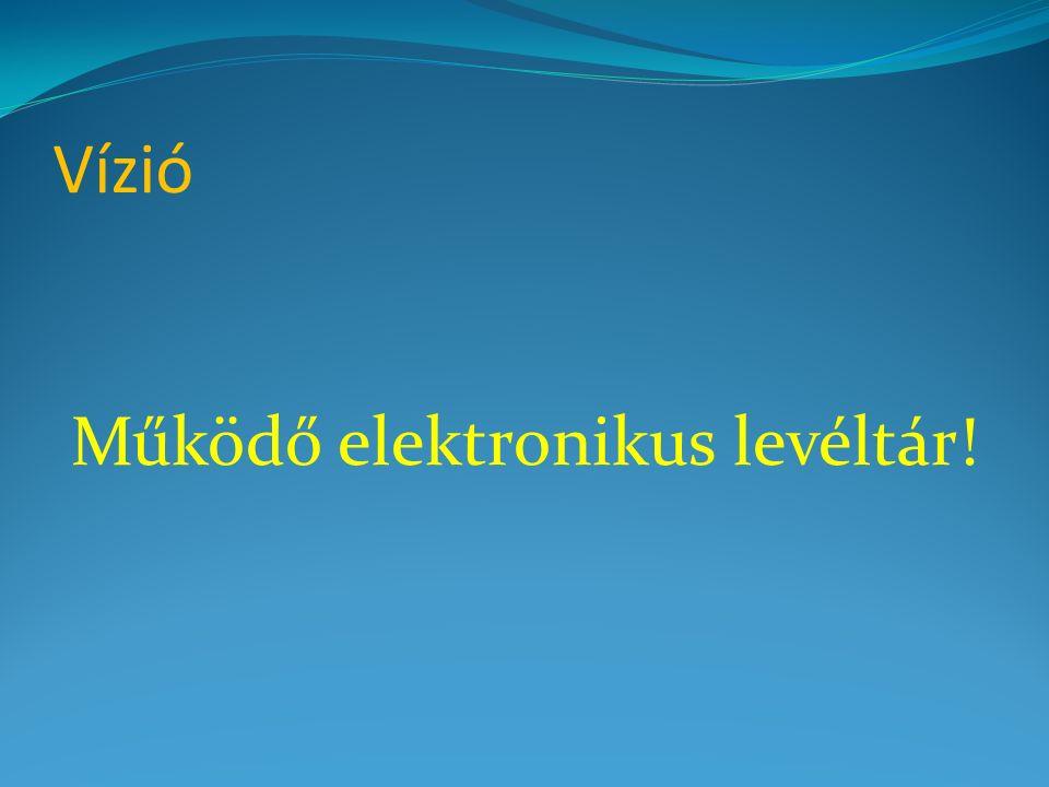 Vízió Működő elektronikus levéltár!